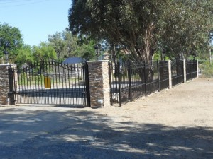 Concord Single Swing Gate with Concord Fencing