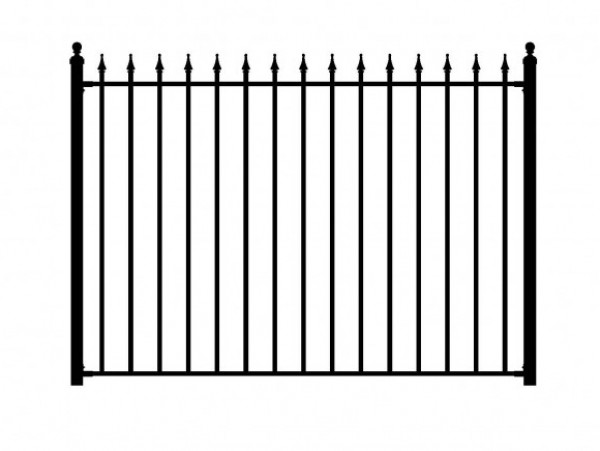 Peak Products Aluminum Fence Panel Black 5 Foot The Home Depot Canada